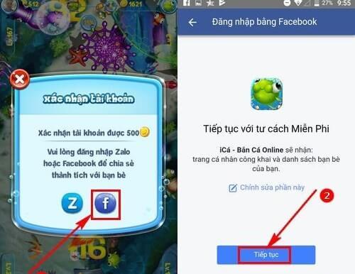 Kết nối tài khoản qua Facebook và Zalo